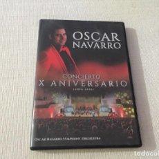 Vídeos y DVD Musicales: CONCIERTO X ANIVERSARIO OSCAR NAVARRO ADDA AUDITORIO DE LA DIPUTACIÓN DE ALICANTE. Lote 215240262