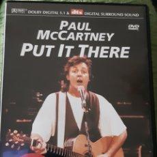 Vídeos y DVD Musicales: MÚSICA GOYO - DVD - PAUL MC CARTNEY - PUT IT THERE - RARISIMO - AA97. Lote 216724593