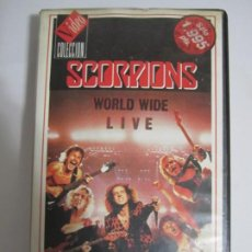 Vídeos y DVD Musicales: VHS SCORPIONS WORLD WIDE LIVE. Lote 216804587