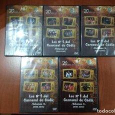 Vídeos y DVD Musicales: LOS N°1 DEL CARNAVAL DE CÁDIZ.20 AÑOS DE COPLAS EN CANAL SUR TELEVISIÓN ANDALUCÍA.5 DVD PRECINTADOS.. Lote 217585071