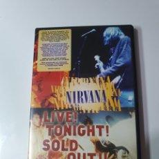 Vídeos y DVD Musicales: NIRVANA, LIVE TONIGHT SOLD OUT, COMO NUEVO, PERFECTO ESTADO.. Lote 218249302