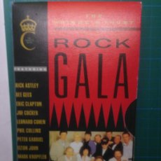 Vídeos y DVD Musicales: THE PRINCE'S TRUST ROCK GALA 1988 VHS PETER GABRIEL JOE COCKER PHIL COLLINS MARK KNOPPLER BRIAN MAY. Lote 218492418