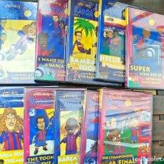 Vídeos y DVD Musicales: COLECCION COMPLETA DVD BARCELONA TOONS BARCA BARSA. Lote 218872693