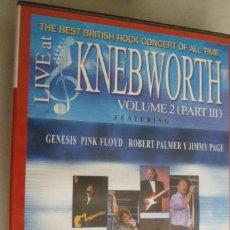 Vidéos y DVD Musicaux: DVD LIVE AT KNEBWORTH VOLUME 2 (PART III). ROBERT PLANT. GENESIS. PINK FLOYD. Lote 219490981