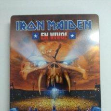 Vídeos y DVD Musicales: DVD CAJA METAL/IRON MAIDEN/EN VIVO/LIVE AT ESTADIO NACIONAL SANTIAGO/DOBLE DVD + LIBRO.. Lote 221284751