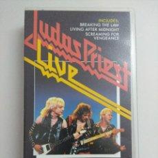 Vídeos y DVD Musicales: VHS METAL/JUDAS PRIEST-LIVE.. Lote 221286121