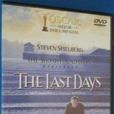 Vídeos y DVD Musicales: DVD / THE LAST DAYS (LOS ÚLTOMOS DÍAS), STEVEN SPIELBERG Y THE SHOAH FOUNDATION, COMO NUEVA. Lote 221535130