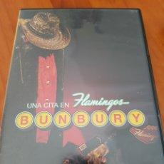Vídeos y DVD Musicales: DVD BUNBURY. UNA CITA EN FLAMINGOS. Lote 221777667