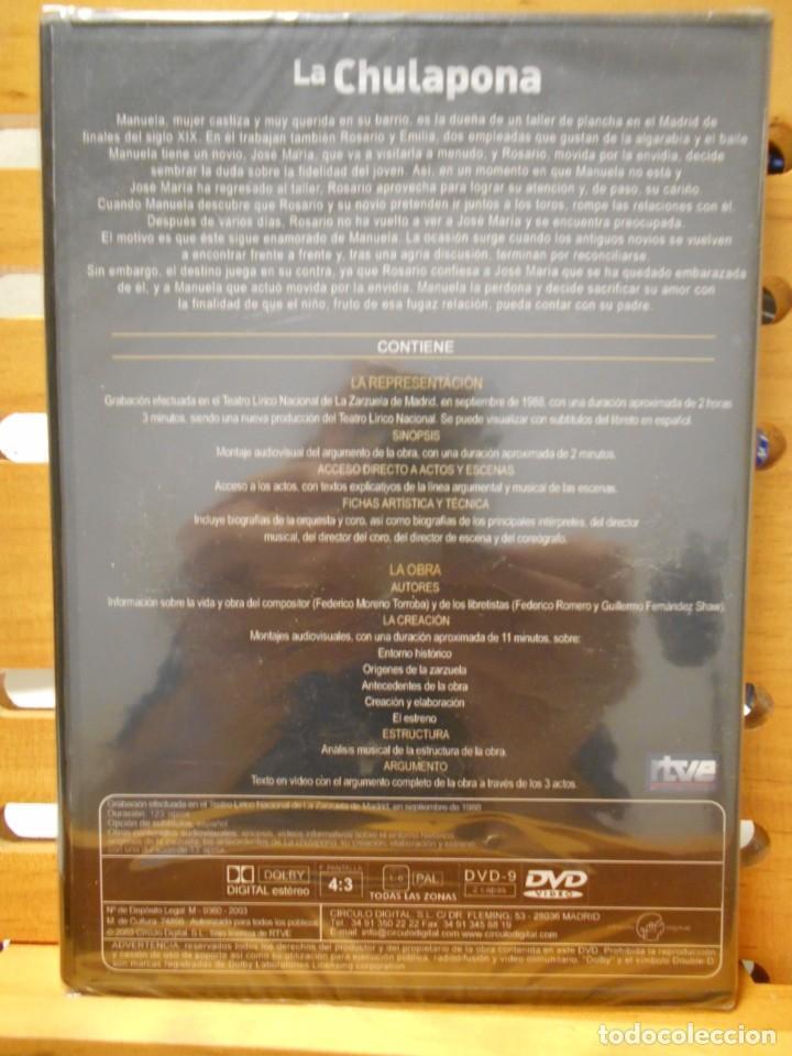Vídeos y DVD Musicales: LA CHULAPONA. DVD DE LA ZARZUELA DE FEDERICO MORENO TORROBA. ORQUESTA SNFONICA DE MADRID Y CORO DEL - Foto 2 - 222048103