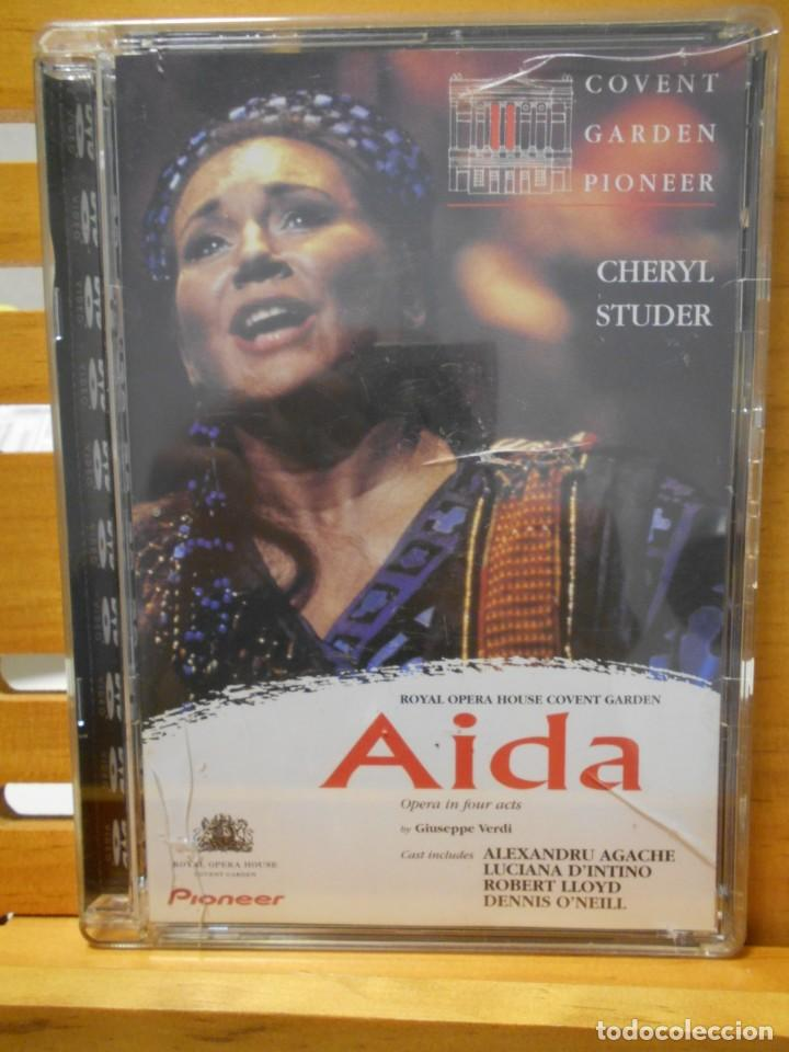 AIDA. GIUSEPPE VERDI. DVD DE ROYAL OPERA HOUSE COVENT GARDEN. PIONEER. OPERA EN 4 ACTOS. 2 DVD'S. CO (Música - Videos y DVD Musicales)