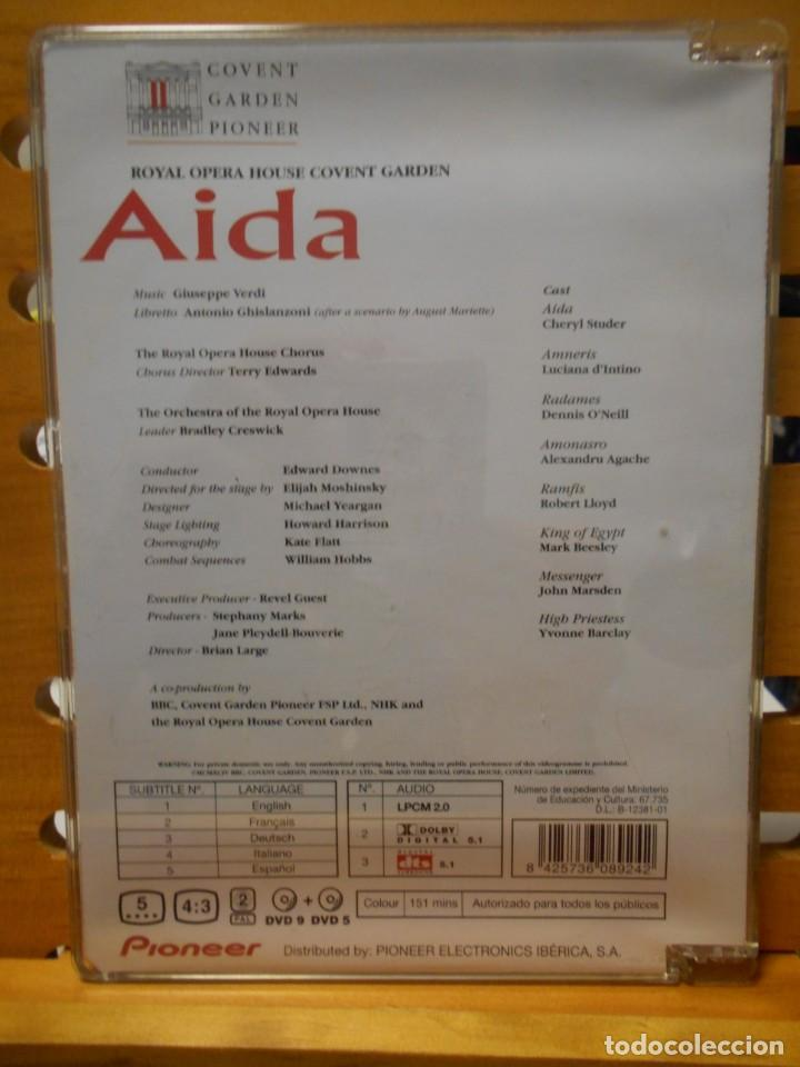 Vídeos y DVD Musicales: AIDA. GIUSEPPE VERDI. DVD DE ROYAL OPERA HOUSE COVENT GARDEN. PIONEER. OPERA EN 4 ACTOS. 2 DVDS. CO - Foto 2 - 222051055