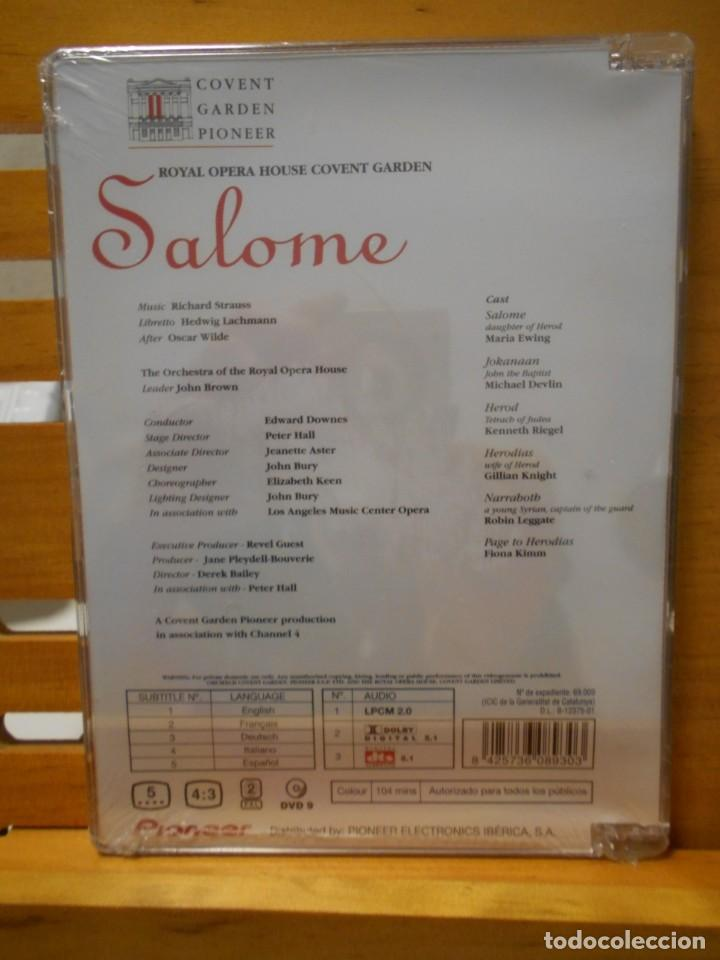 Vídeos y DVD Musicales: SALOME. DVD DE LA OPERA DE RICHARD STRAUSS. COVENT GARDEN PIONEER. ROYAL OPERA COVENT GARDEN. NUEVO - Foto 2 - 222052291