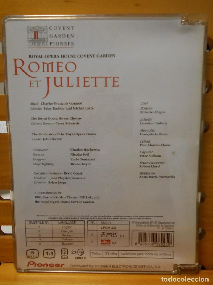 Vídeos y DVD Musicales: ROMEO ET JULIETTE. ROMEO Y JULIETA. DVD DE LA OPERA DE CHARLES-FRANÇOIS GOUNOD. ROYAL OPERA HOUSE CO - Foto 2 - 222053992