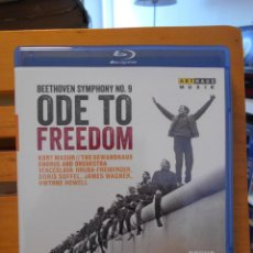 Vídeos y DVD Musicales: BEETHOVEN SYMPHONY NO. 9. ODE TO FREEDOM. BLURAY. BONUS: CLASSICAL MUSIC AND COLD WAR. MUSICIANS IN. Lote 222318962