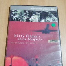 Vídeos y DVD Musicales: BILLY COBHAM'S GLASS MENAGERIE. LIVE IN RIAZZINO, SWITZERLAND (DVD). Lote 222395053