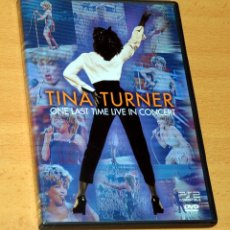 Vídeos y DVD Musicales: DISCO DVD: TINA TURNER - ONE LAST TIME LIVE IN CONCERT - 120 MINUTOS - EAGLE ROCK - AÑO 2000. Lote 222812381