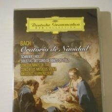Vídeos y DVD Musicales: BACH. ORATORIO DE NAVIDAD. DVD DEUTSCHE GRAMMOPHON. SCHREIER - HOLL - SOLISTAS DEL CORO DE NIÑOS DE. Lote 223640162