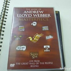 Vídeos y DVD Musicales: THE MUSIC OF ANDREW WEBBER MASTERPIECE - DVD -N 2. Lote 225499680