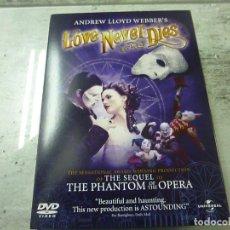 Vídeos y DVD Musicales: ANDREW LLOYD WEBBERS-LOVE NECER DIES-THE SEQUEL TO THE PHANTOM OF THE OPERA - DVD -N 2. Lote 225557805
