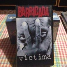 Vídeos y DVD Musicales: BARRICADA - VICTIMA / ULTRARARA CINTA VHS PROMOCIONAL EDICION CON LA CANCIÓN VICTIMA. NM-NM. Lote 227665620