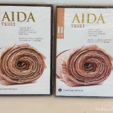 Vídeos y DVD Musicales: AIDA. / GRAN TEATRE DEL LICEU. BICENTENARIO WAGNER / VERDI - VOL - I - II / PRECINTADOS.. Lote 228438545