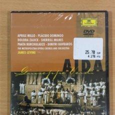 Vídeos e DVD Musicais: DVD ÓPERA DE VERDI - AÍDA CON PLÁCIDO DOMINGO (1989). THE METROPOLITAN OPERA - DEUTSCHE GRAMMOPHON. Lote 247259785