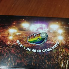 Vídeos y DVD Musicales: 2DVDS LOS N1 DE LOS 40 EN CONCIERTO. SABINA, SECRETOS, ESTOPA, ANTONIO VEGA, HOMBRESG, FANGORIA. Lote 228608403