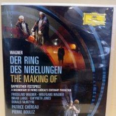 Vídeos y DVD Musicales: WAGNER DER RING DES NIBELUNGEN. BOULEZ. THE MAKING OF. Lote 229029945