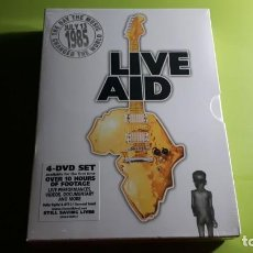 Vídeos e DVD Musicais: LIVE AID - JULY 13 1985 - THE DAY THE MUSIC CHANGED THE WORLD - 4 DVD SET - PRECINTADO - JOYA. Lote 230048815