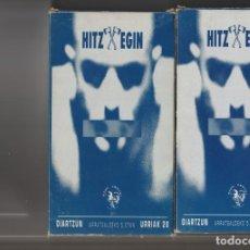 Vídeos y DVD Musicales: DOBLE VIDEO VHS HITZ EGIN. Lote 230592225
