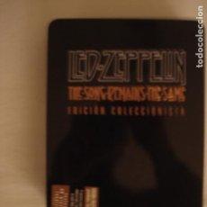 Vídeos y DVD Musicales: THE SONG REMAINS THE SAME LED ZEPPELIN DVD EN CAJA METÁLICA CON MEMORABILIA DEL CONCIERTO. Lote 231951590
