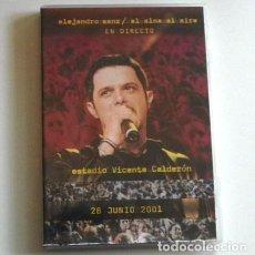 Vídeos y DVD Musicales: DVD ALEJANDRO SANZ EL ALMA AL AIRE CONCIERTO ESTADIO VICENTE CALDERÓN 2001 CANTAUTOR ESPAÑOL MÚSICA. Lote 233131300