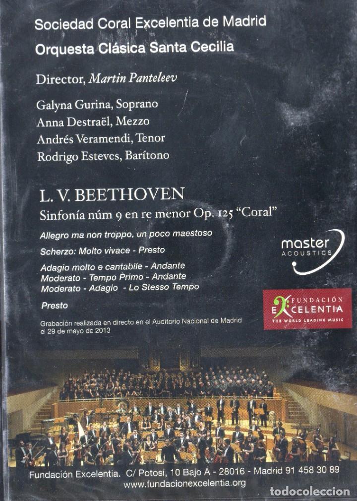 Vídeos y DVD Musicales: L.V. BEETHOVEN - ORQUESTA CLÁSICA SANTA CECILIA - DVD - Foto 2 - 233666655