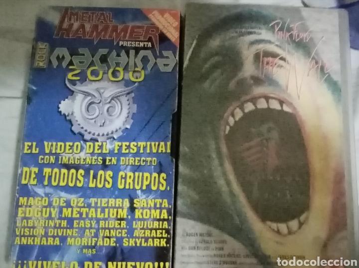 LOTE DE VHS. THE WALL Y FESTIVAL MACHINA 2001 (Música - Videos y DVD Musicales)