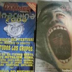 Vídeos y DVD Musicales: LOTE DE VHS. THE WALL Y FESTIVAL MACHINA 2001. Lote 234982060