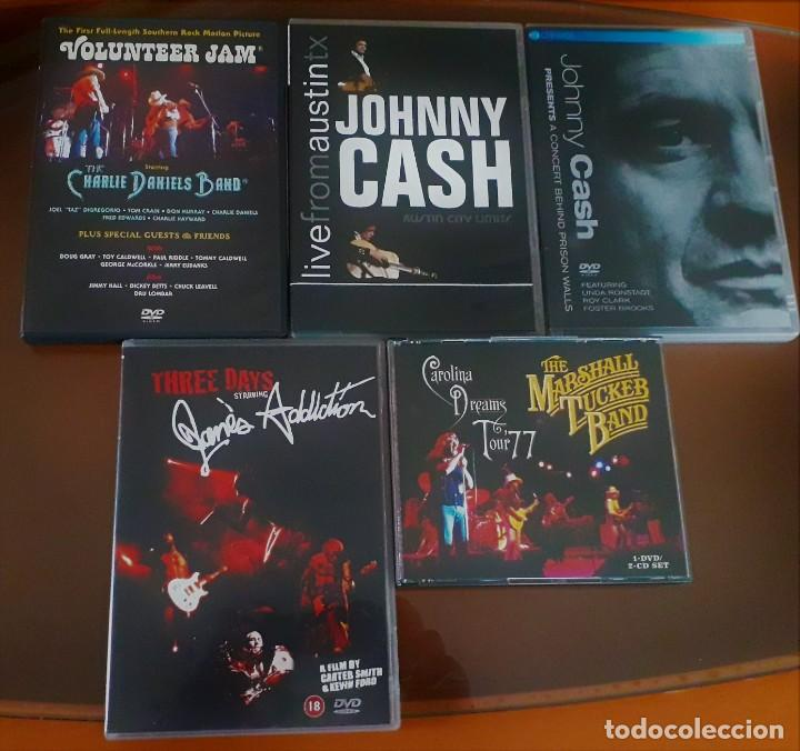 LOTE DVD JOHNNY CASH. CHARLIE DANIELS BAND. JANES ADDICTION. MARSHALL TUCKER BAND. (Música - Videos y DVD Musicales)