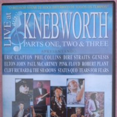 Vídeos y DVD Musicales: LIVE AT KNEBWORTH, 2 DVD'S, PARTS ONE, TWO & THREE (ST2 VIDEO, 2002) // DIRE STRAITS PINK FLOYD ROCK. Lote 235510495
