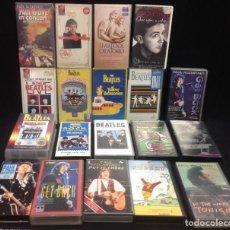 Vídeos y DVD Musicales: THE BEATLES Y PAUL MCCARTNEY, LOTE DE 20 VIDEOS VHS. Lote 235715960