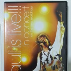 Vídeos y DVD Musicales: DVD PAUL MCCARTNEY IN CONCERT - ON THE NEW WORLD TOUR. Lote 235831010