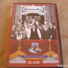 Vidéos y DVD Musicaux: STATUS QUO. FAMOUS IN THE LAST CENTURY. EL PAIS. EN DIRECTO. Lote 235992065