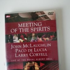 Vídeos y DVD Musicales: DVD MEETING OF THE SPIRITS. PACO DE LUCIA, JOHN MCLAUGHLIN Y LARRY CORYELL. Lote 236147410
