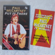 Vídeos y DVD Musicales: PAUL MCCARTNEY PUT IT THERE VHS. Lote 236526875