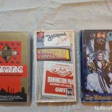 Vídeos y DVD Musicales: OZZY.SCORPIONS.WHITESNAKE.VHS.ORIGINALES.HEAVY METAL.ROCK.CINTAS DE VIDEO.LOTE. Lote 237384030