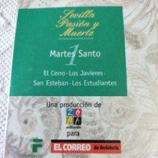 Vídeos y DVD Musicales: SEMANA SANTA DE SEVILLA, MIÉRCOLES SANTO,2DVD,8 PROCESIONES.. Lote 238190850