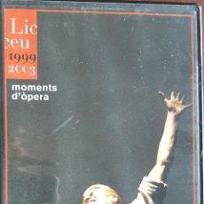 Vídeos y DVD Musicales: DVD / LICEU 1999-2003 - MOMENTS D'OPERA AL LICEU, COMO NUEVO. Lote 240697100