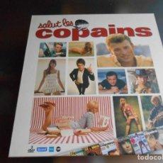 Vídeos y DVD Musicales: SALUT LES COPAINS - 3 DVD -, CAJA CON 3 DVD Y REVISTA, AÑO 2009 DE 29 X 31 CMS. Lote 241462490