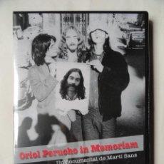 Vídeos y DVD Musicales: ORIOL PERUCHO IN MEMORIAM, UN DOCUMENTAL DE MARTÍ SANTS. Lote 243172920