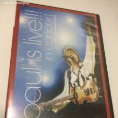 Vídeos y DVD Musicales: PAUL MC CARTNEY IS LIVE!!! - IN CONCERT ON THE NEW WORLD TOUR. Lote 244454550