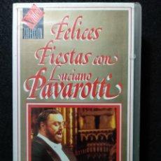 Vídeos y DVD Musicales: FELICES FIESTAS CON LUCIANO PAVAROTTI. VHS. Lote 244601085