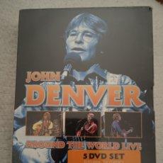 Vídeos y DVD Musicales: JOHN DENVER AROUND THE WORLD LIVE 5 DVD SET PRECINTADO. Lote 244625765